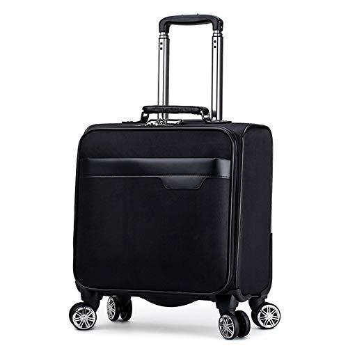 QIUDAN 18-Zoll-Trolley, leichte rollbare Laptop-Tasche mit Passwortsperre - Geeignet für 15-Zoll-Laptops Business Travel Office Gepäck Koffer-5