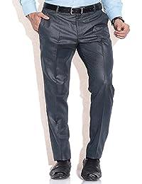 Stylish Combo Of Blue Formal Trouser, Shirt, Belt & Wallet - B06Y3D2WH7