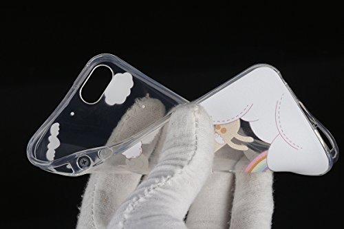 iphone 6s Transparent Housse,Silicone TPU Gel Etui pour iPhone 6,Ekakashop Jolie Design Ultra Mince Soft Souple Arrière Cristal Clair Gel TPU Bumper Case Coque de Protection Couverture Swag pour iPhon Le Cerf
