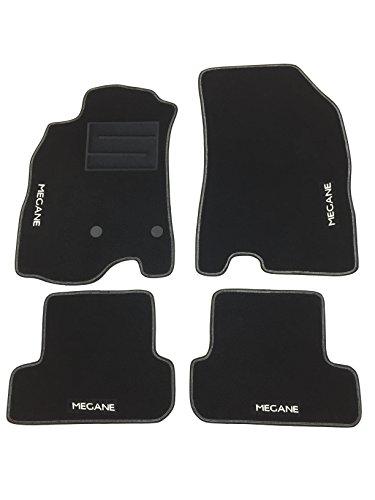 tappetini per MEGANE 3 III tappeti auto con logo e bottoni (4 LOGHI)