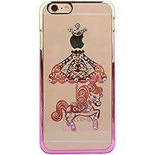 Funda para teléfono móvil con patrón Glitter Rhinestone zhink artes para, M1 Pony Gold/Pink, Apple IPhone 6/6S