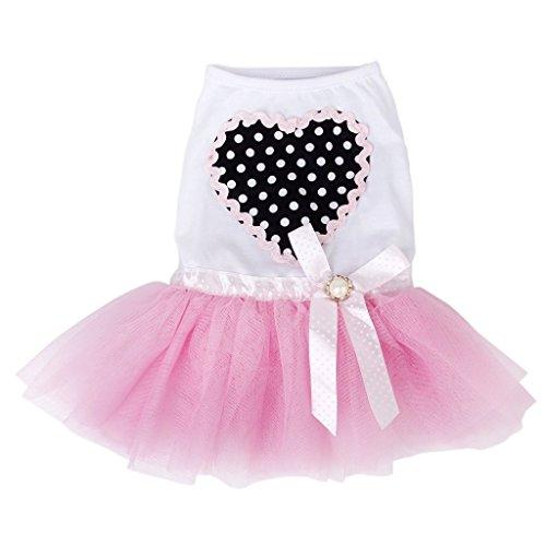 ny Kleiner Hund Puppy Prinzessin Kleid Spitze Rock Pink (S) (Cute Dog Kostüme Muster)