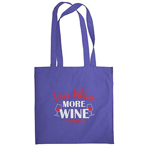 Texlab–Less Whine More Wine–sacchetto di stoffa Marine