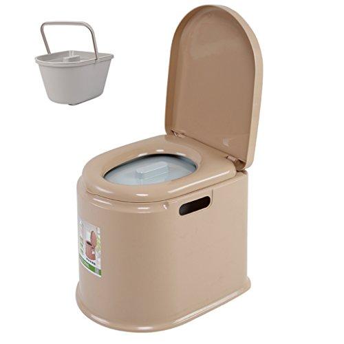 MyAou-commode Portable Camp Toilette Portable Toilette Voyage Camping Randonnée Pique-Nique Festival en Plein Air (Couleur : Beige, Taille : A)
