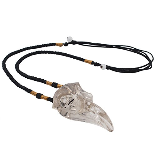 laufout natur klar Kristall Handgefertigt Bird Head Totenkopf Figur Anhänger, Crystal Healing Point Chakra Halskette Ornament (Crystal Point Halsketten)