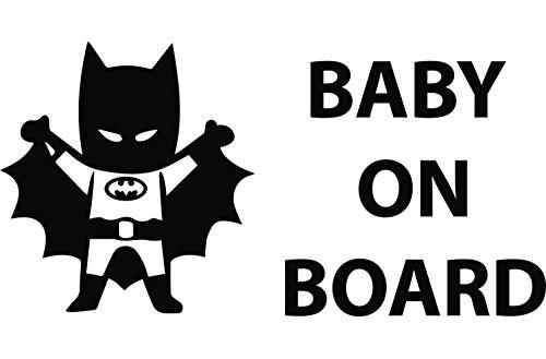 Batman Baby on board ca 15x8cm Aufkleber Sticker Decal für alle glatten Oberflächen. Auto, Wände, Fenster, Tür (Batman Zubehör Baby)