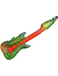 Aufblasbare Folien Luftgitarren Rock n Roll alle Farben, wählen:grün