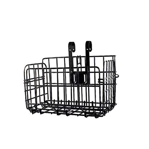 Naisidier Fahrradkorb Multi-Funktions-Faltrad Metall Hängenden Korb Tragbarer Fahrrad Vorne Hinten Hängenden Beutel Fahrrad-Eisen-Fertigkeit-Speicher-Korb Schwarz -