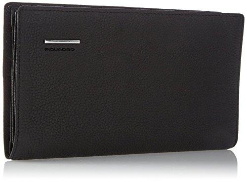 Porta documenti da viaggio Piquadro Modus nero con porta carte di credito, portafoglio e portapenne PP1009MO/N