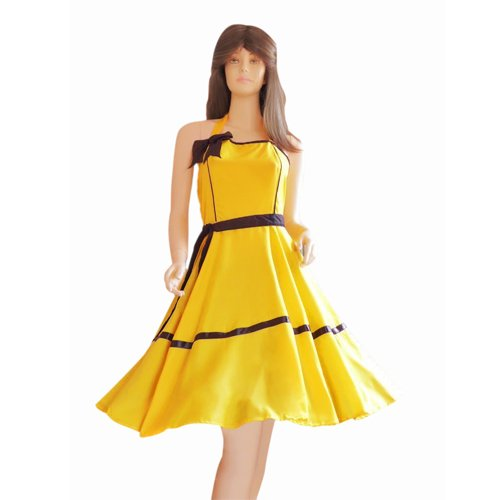 ideen fur gruppen kostume kleid kleider fur petticoat petticoats pettycoat 50er 60er gelb schwarz gr