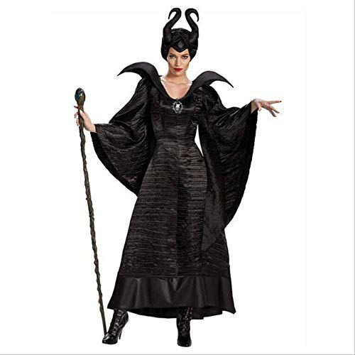 Kostüm Dress Up Weibliche - duanyunmei Märchen Sexy Schwarze Hexe Königin Kostüm Erwachsene Weibliche Halloween Party Cosplay Dress Up Dress S Schwarz