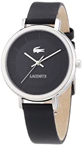 Reloj Lacoste 2000717 de cuarzo para mujer con correa de piel, color negro de Lacoste