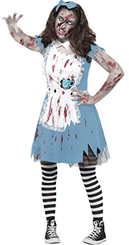 Halloweenia - Mädchen Karneval Halloween Kostüm Zombie Tea Party , Mehrfarbig, Größe 152-164, 12-14 (Michael Halloween Jackson Kostüm Mädchen)