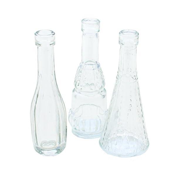 12 Stuck Deko Glasflaschen Vasen H 12 Cm Mobelbilliger De