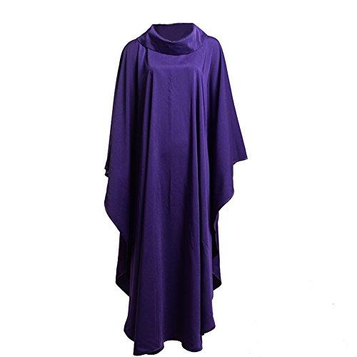 BLESSUME Blanc Catholique Église Chasuble Prêtre Robe Clegy Vêtements (Violet)