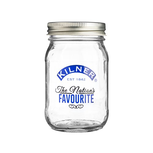 400 Glass Storage (Kilner - Einmachglas - Einweckglas - Nation's Favourite - mit Schraubverschluß - 400 ml)