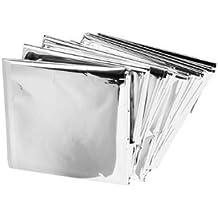 Efbock plateada de Mylar de rescate de emergencia a prueba de agua Espacio de papel de aluminio 1pcs manta térmica