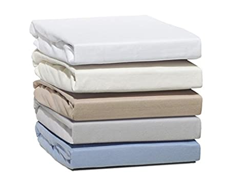 Drap housse flanelle matelas epais jersey 100% en pur Coton disponible en coloris blanc, beige bleu ciel gris pierre Cappuchino et chocolat Dans les tailles 90x200 140x200 160x200 180x200 200x200 cm - BLEU CIEL 140x200