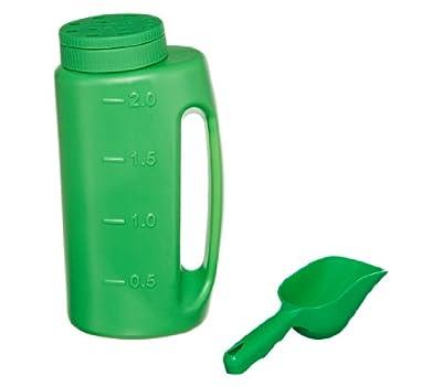 Dehner Streudose, Behälter für Streugut inkl. Schaufel, 0.2 kg, grün