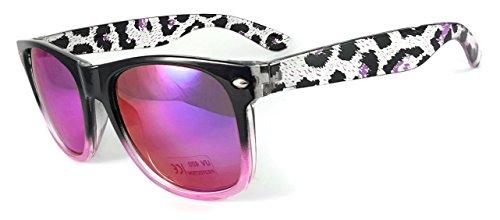 iceBoo Damen Sonnenbrille Black & Red frame green reflective Lens (Wayfarer Two Tone Sonnenbrille)