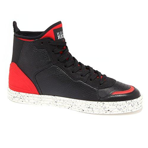9655R sneaker uomo HOGAN REBEL R141 nero/rosso scarpa shoe men Nero/Rosso
