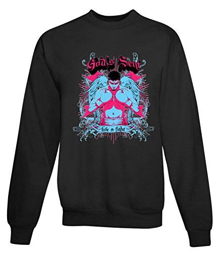 Billion Group | Angel Of Strength Boxing Poster | Fight Club | Sport Series | Women's Unisex Sweatshirt Noir
