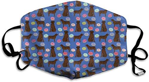 Green Haoke Benutzerdefinierte Masken Abrador Retriever Hunde Pet Chocolate Labs Donuts Atmungsaktive Winddichte Mundmaske Einstellbares Gummiband für das Radfahren Camping Im Freien