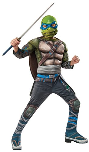 Teenage Mutant Ninja Turtle 2 Deluxe Leonardo Costume Child - Deluxe Kind Leonardo Kostüm