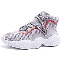 LIANGXIE Zapatillas Ligeras de Mujer Zapatillas Deportivas de Viento de Mujer Zapatillas Deportivas de Malla de Malla Gruesa Zapatos de Mujer de Pedal (Color : Gris, tamaño : 37)