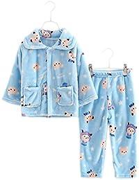 Blue Bear Flannel Kids pijama traje de baño suave Velvet Sleepwear Nightcloth