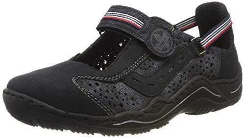 Rieker Damen L0557-14 Sneaker, Blau (Pazifik/Nightblue 14), 37 EU