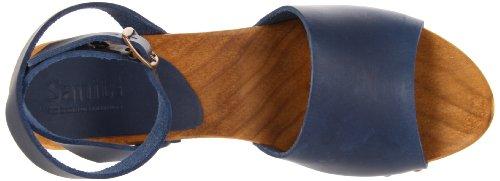 Sanita Yara Square Flex Damen Knöchelriemchen Sandalen Blau (Blue 5)