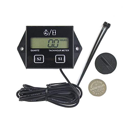 Contagiri del Motore Contaore Tach con Sensore di Temperatura della Candela di Accensione per Motore A Benzina, Display Digitale Induttivo Sostituibile della Batteria 2 Timer Dell'accumulatore