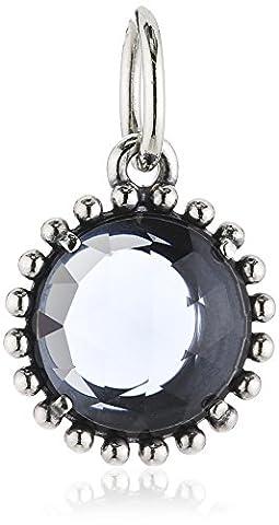 Pandora Damen-Anhänger 925 Silber Kristall blau - 390361NBC