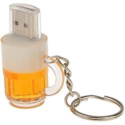 Sharplace Disco USB 2.0 Pluma de Memoria Alta Velocidad de Forma Jarra de Cerveza 4GB/8GB/16GB/32GB - 32GB