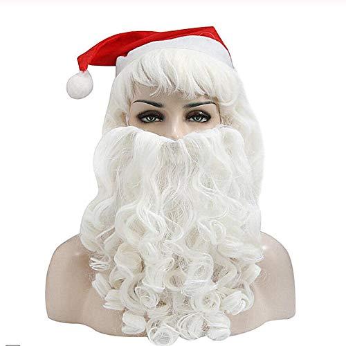 Santa Kostüm Weiblich - Xk&Cq Perücke Weibliche Santa Kostüm Bart