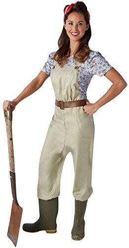 Rubie's Offizielles Damen Land Mädchen Erwachsene (Damen Land Mädchen Kostüm)