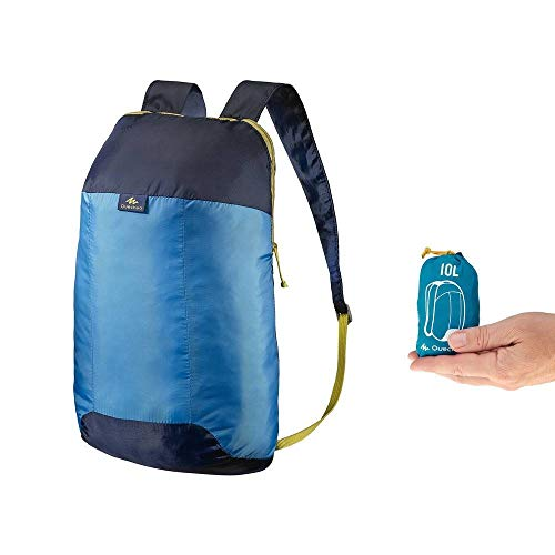 Quechua Arpenaz Ultra-Compact Backpack, 10 Liters (Blue)