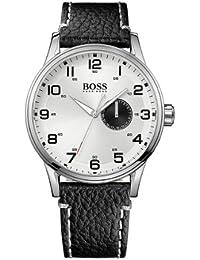 Hugo Boss Herren-Armbanduhr XL Analog Quarz Leder 1512722
