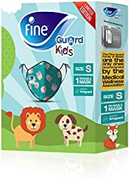 Fine Guard Kids Face Mask, Reusable face mask with virus-killing, antiviral Livinguard Technology, – Green Lim