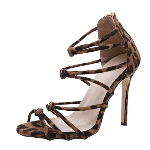 Vicgrey scarpe donna eleganti con tacco alto trasparenti sandali estivi donne con tacco leopardati sandali estive ragazza con tacco a spillo scarpe plateau scarpe da sposa cerimonia party sandalo
