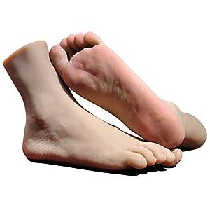 CTKOLYS 1 para Silikon Lebensgroße Männliche Schaufensterpuppe Fuß Display Schmuck Sandale Schuhsocke Display Kunst Skizze Fuß Spielzeug Mit Nagel