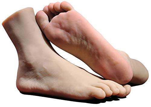 CTKOLYS 1 para Silikon Lebensgroße Männliche Schaufensterpuppe Fuß Display Schmuck Sandale Schuhsocke Display Kunst Skizze Fuß Spielzeug Mit Nagel - Zehennagel-kunst