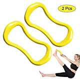 YNXing Yoga-Ausrüstung Yoga-Ring Pilates-Ring-Fitness-Kreis-Trainings-Widerstand-Stützwerkzeug Kalb-Massage (Gelb)