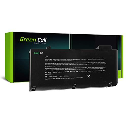 Green Cell A1322 Laptop Akku für Apple MacBook Pro 13 A1278 (Mid 2009, Mid 2010, Early 2011, Late 2011, Mid 2012) - Li-Polymer Zellen 56Wh 10.8V Schwarz (Macbook Early 2011 Akku)