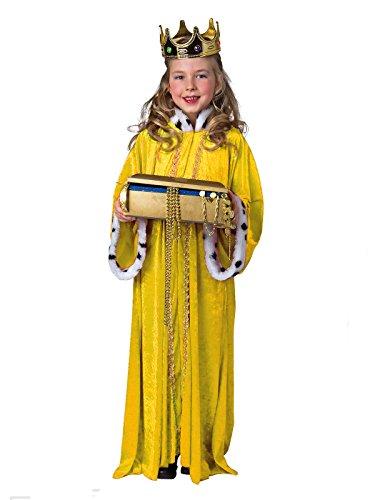 Sternsinger Kostüm Königs Mantel gelb Größe - Gelbe König Kostüm