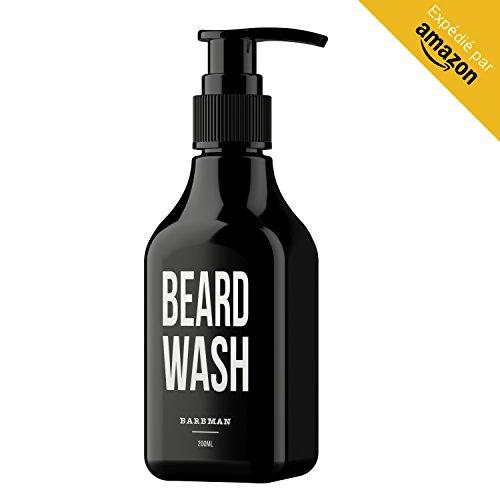 BARBMAN: Champú para Barba (200ml) con Madera de Sándalo, limpieza diaria y a profundidad del rostro y la barba, Regalo ideal para hombres barbudos.