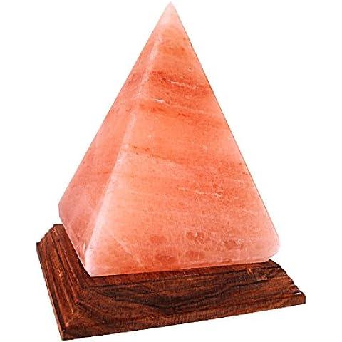 Lámpara de cristal de sal del Himalaya con forma de pirámide (Cristal de sal de excelente