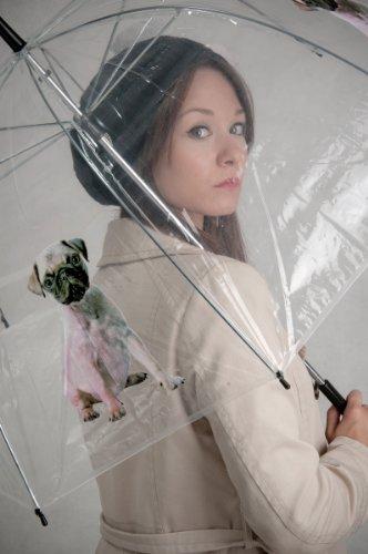 Modischer-Regenschirm-Mops-transparent-bedruckt-in-Kuppelform