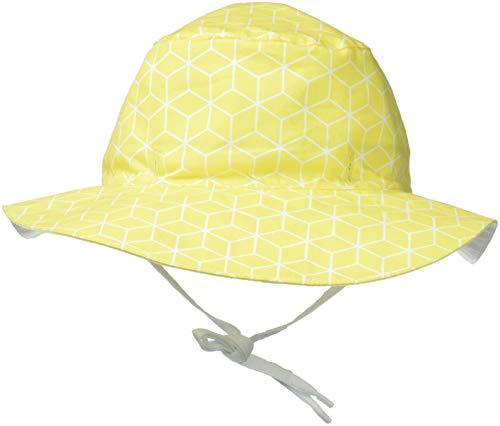 KI ET LA Gorro Reversible 100% Anti UV, Chapeau De Cowboy Bébé garçon, Jaune Cubik, (Taille Fabricant: 47/49 Centimeters)
